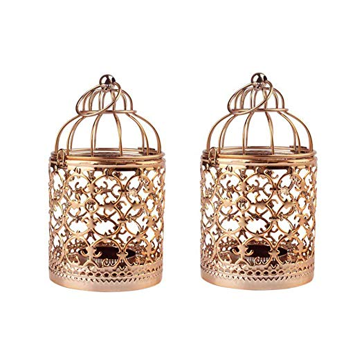 Vintage Candle Lantern Birdcage Metal Candle Holders for Wedding Home Table Decor Centerpiece