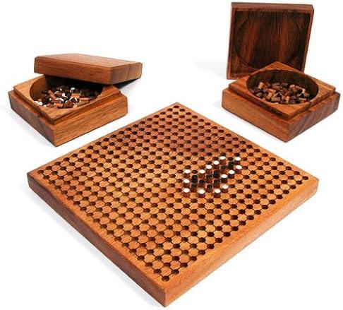 Go Spiel mit Go Schalen - Steckbrett aus Massivholz