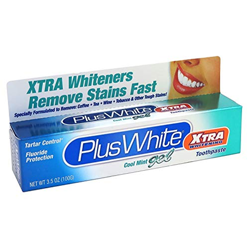 Plus White Xtra Whitening Toothpaste Gel Cool Mint 3.50 (Plus Whitening Gel Toothpaste)