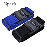 Luggage Straps, COOFIT Suitcase Belts Travel Bag Accessories Travel Luggage Straps Luggage Belts