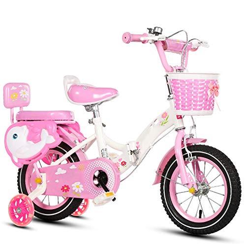 Axdwfd Bici per Bambini Bici per Bambini 12 14 16 18 20 Pollici, Bicicletta per Bambini in Acciaio ad Alto tenore di Carbonio con rossoella di addestramento Regalo per Ragazzi e Ragazze di 2-11 Anni