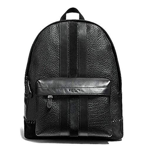 Briefcase Leather Baseball (Coach New York F11250 Charles Pebble Leather Baseball Stitch Backpack Bookbag Black)