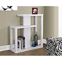 White Wood Console Accent table Hallway Includes Custom Mouse Pad