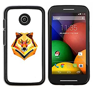 Caucho caso de Shell duro de la cubierta de accesorios de protección BY RAYDREAMMM - Motorola Moto E - Minimalista Polígono Lobo