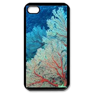 Coral Image On Back Phone Case For iPhone 4,4S