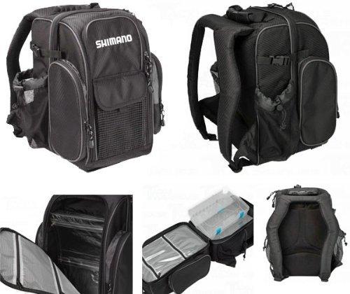 Shimano blackmoon fishing backpack black compact blmbp260bk for Shimano fishing backpack