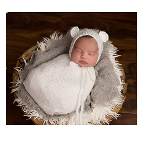 Fashion Newborn Boy Girl Baby Costume Knitted Photography Props Hat Sleeping Bag (Baby Costumes Girl)