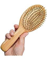 فرشاة شعر خشبية من مايسترو كرافت ، مشط وسادة هوائية لتدليك فروة الرأس ، فرش الخيزران الطبيعية وأدوات تصفيف الشعر المقاومة للكهرباء الساكنة