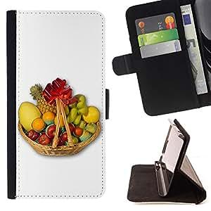 For Samsung Galaxy S3 Mini I8190Samsung Galaxy S3 Mini I8190 - Fruit Macro Fruit Basket /Funda de piel cubierta de la carpeta Foilo con cierre magn???¡¯????tico/ - Super Marley Shop -