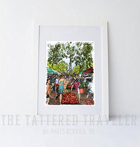 Charleston Farmer's Market | Giclee Art - Charleston Sc Market