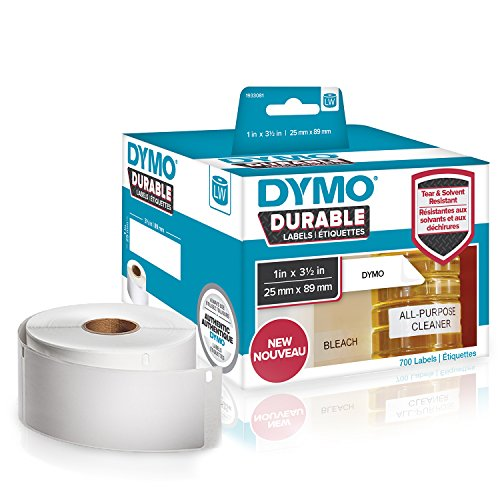 DYMO LW Durable Industrial Labels for LabelWriter Label Printers, White Poly, 1