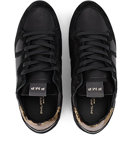 9½ 41 EU MODEL US Sneaker Leather Golden PHILIPPE and Woman's Black Monaco Black vFSqFAw8g