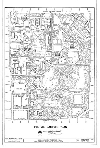 Historic Pictoric Structural Drawing HABS KS-61 (Sheet 2 of 11) - Horticultural Hall, Kansas State University Campus, Manhattan, Riley County, KS 44in x 66in ()