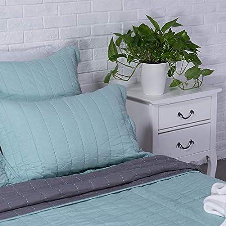 endlessbay Organic Cotton Quilt Crystal Water//Dawn Grey, Twin