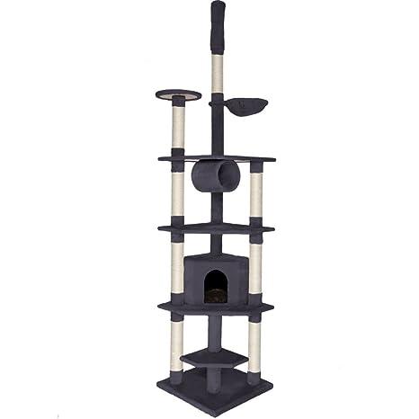 Dibea KB00422 Árbol Rascador Escalador para Gatos, 240-260 cm, Altura Ajustable del
