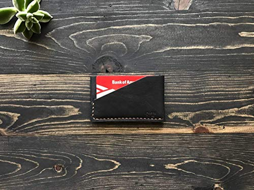 Leather Front Pocket Wallet, Holds Up To 8 Cards