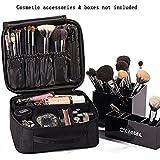 ROWNYEON Makeup Bag Cosmetic Case Travel Organizer / Mini Makeup Train Case 9.8''