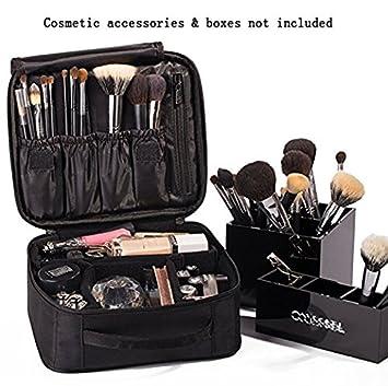 be7b76d3d747d ROWNYEON Makeup Train Case Cosmetic Case Travel Makeup Bag Organizer Mini  Train Case Makeup Artist Organizer