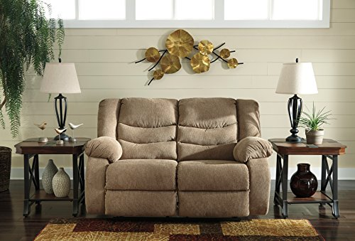 Loveseat Mocha Reclining (Tulen Contemporary Mocha Color Fabric Reclining Loveseat)