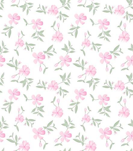 Papel de Parede Floral Bobinex Uau Rosa