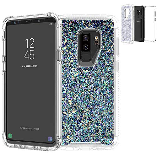 Samsung Galaxy S9/Galaxy S9 Plus,Shockproof Luxury Heavy Duty Hybrid Birthstone Defender Impact Protective Cover Bling Case for Samsung Galaxy S9/Galaxy S9 Plus (Multi-Color, Samsung Galaxy S9 Plus)