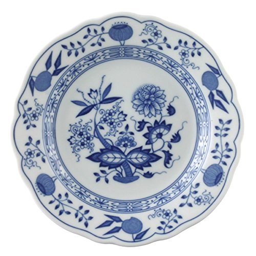 Hutschenreuther Blue Onion Motif Bread Plate with Rim, Porcelain, 15 cm, - Bread Blue Plate Onion