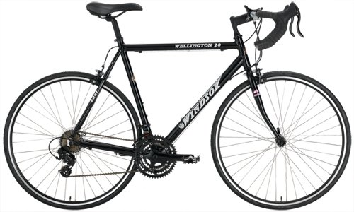 Windsor Wellington 2.0 Aluminum 21 Speed Shimano Equipped Road Bike (Black, 53cm)