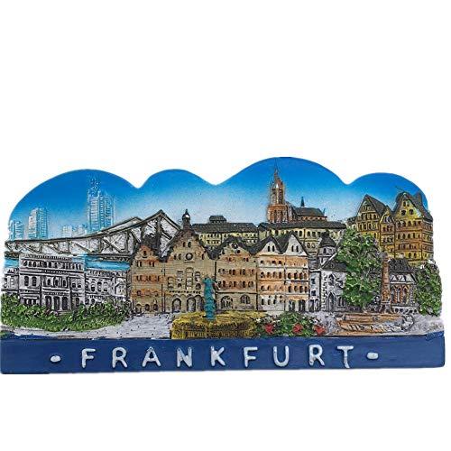 Fridge Magnet Frankfurt Germany 3D Resin Handmade Craft Tourist Travel City Souvenir Collection Letter Refrigerator Sticker -