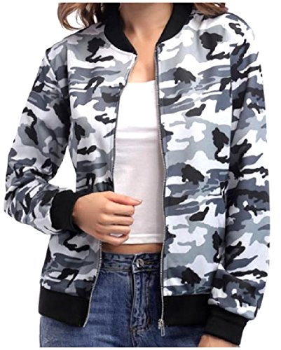Blend Jacket Cotton Howme Fashionable Women Winter Full Zip Autumn Grey nPxZBxO