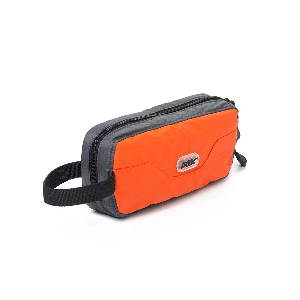 GOX Travel Toiletry Bag Ultra-Light Cosmetic Bag Large-Capacity Portable Makeup Pouch(Orange)