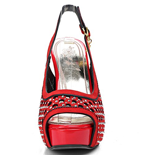Fashion HeelSandals - Zapatos con tacón mujer Red