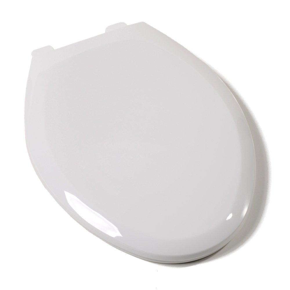 Comfort Seats C2200S04 EZ Close Deluxe Plastic Elongated Toilet Seat, Cotton Weiß by Comfort Seats