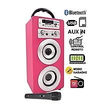 Hasta un -20% en DYNASONIC - Altavoz Bluetooth con Karaoke