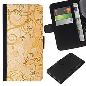 Ihec-Tech / Flip PU Cuero Cover Case para Sony Xperia Z4 - cvety vetochki uzory ornamenty