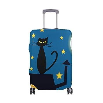 COOSUN Los Gatos de Dibujos Animados La Parte Superior del Techo por la Noche Poster Equipaje