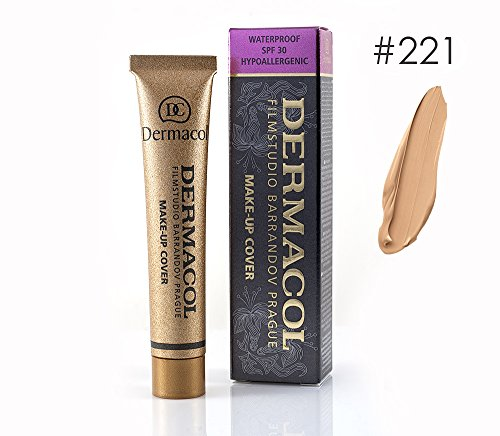 Dermacol High Cover Make-up Foundation Waterproof Hypoallergenic Foundation Authentic – #221
