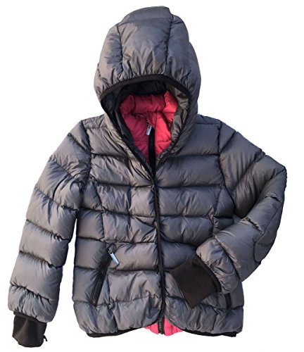 ADD GAGH25 Girls Winter Coat with attached Hood Size 8 Y/128 CM by ADD
