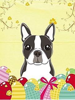 Carolineu0027s Treasures BB1885GF Boston Terrier Easter Egg Hunt Garden Flag,  Small, Multicolor