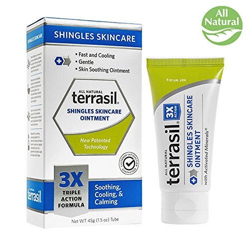 Terrasil  Shingles Skincare   3X Triple Action Formula  100  Guaranteed  Patented  All Natural Soothing Ointment For The Management Of A Shingles Outbreaks  45G Tube