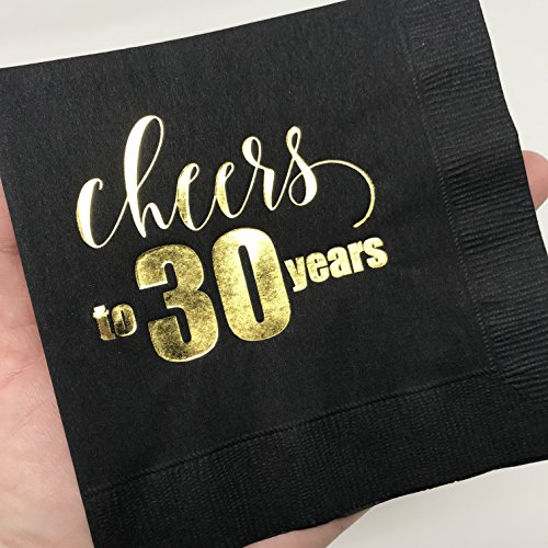 Retirement Decorations Gold Foil Retirement Party Napkins Black and Gold Napkins Retirement Party White Rabbits Design Retirement Napkins Beverage Napkins Cheers to Your Retirement Napkins Set of 25