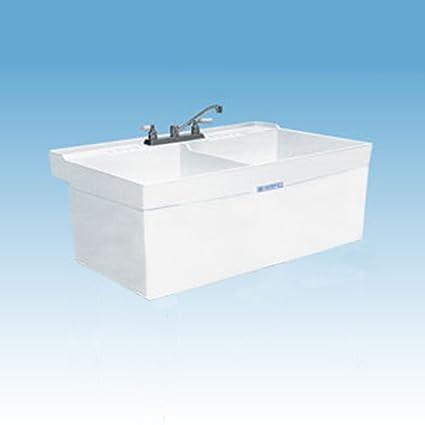 Mustee 26W Double Basin Wall Mount Utility Sink