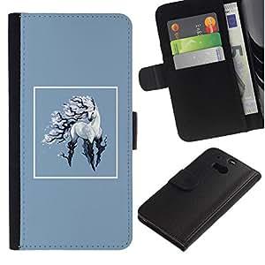 All Phone Most Case / Oferta Especial Cáscara Funda de cuero Monedero Cubierta de proteccion Caso / Wallet Case for HTC One M8 // Unicorn