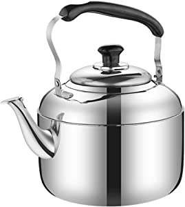 Stainless Steel Kettle/Kitchen Aid Tea Pots For Stove Top|tea Kettle|whistling Tea Kettle|stainless Steel Tea Kettle | Large Capacity | Suitable For Various Stoves (Size : 8L)