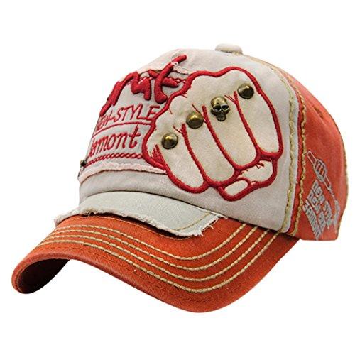 Baseball Caps Hat, Forthery Mens Adjustable Sports Casual Hip Hop Sun Plain Hat (Orange)