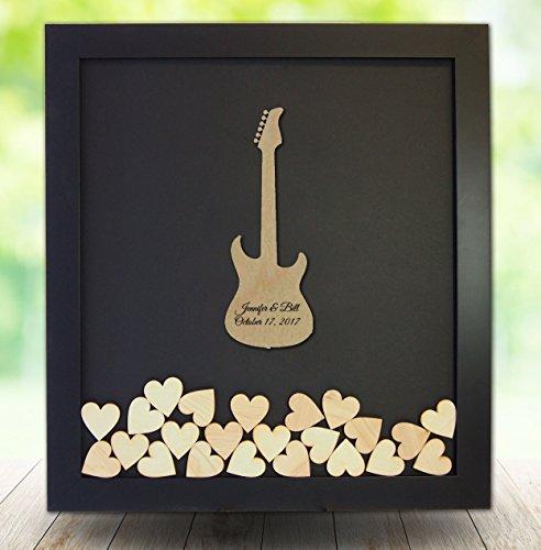 Guitar Themed Guest Book - Electric Guitar Guest Book - Drop Top/Drop Heart Guest Book register