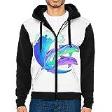 Psychedelic Dolphins Fashion Hooded Sweatshirt Pullover Hoodie Sweatshirt