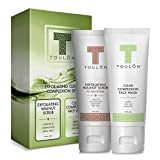 Acne Kit for Treatment and Repair of Skin - Acne Cleanser for Blemishes & Clear Complexion & Walnut Exfoliating Face Scrub to Rid Dead Skin, Reduce Acne & Wrinkles.