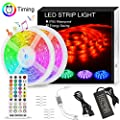 LED Strip Lights sync to Music,KDORRKU 32.8FT/10M Waterproof RGB Light Strips 5050 300LEDs Flexible neon Lights Self Adhesive Color Changing Rope Lights Remote 12V for Bedroom Room Mood Tape Lighting