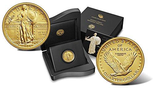 2016 W Standing Liberty 1/4 oz Centennial Gold Coin Quarter Uncirculated US Mint ()