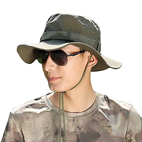 Promini Outdoor Protection Sun Hats Classic Mesh Anti-UV Fishing Hats - Boonie Hat Terry Hat